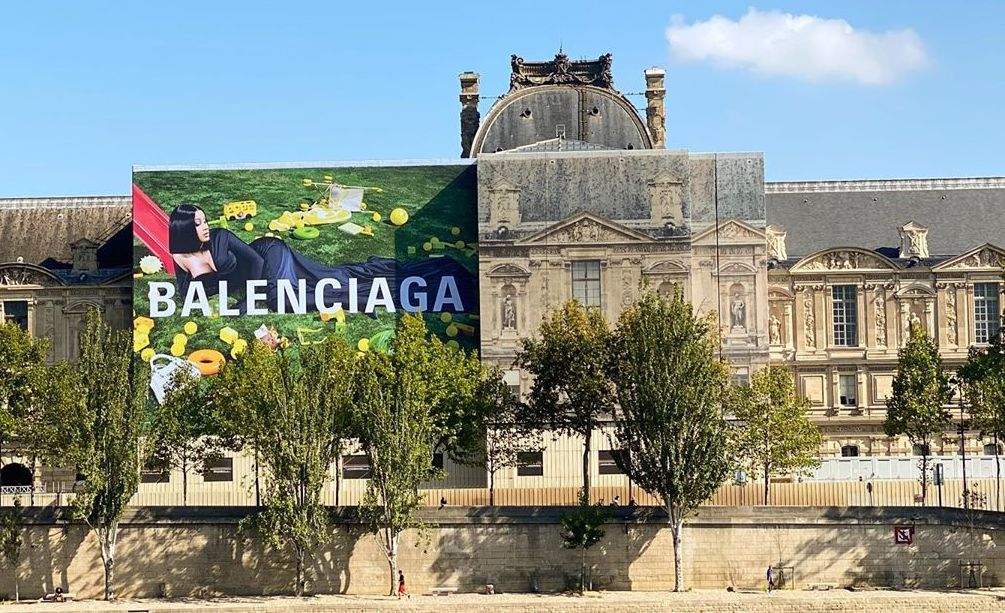 Cardi B's Self-Styled Balenciaga Campaign lands on Louvre Billboard