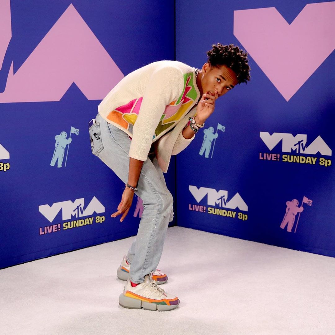 SPOTTED: Jaden Smith Rocks his Signature Sneaker at the VMA's