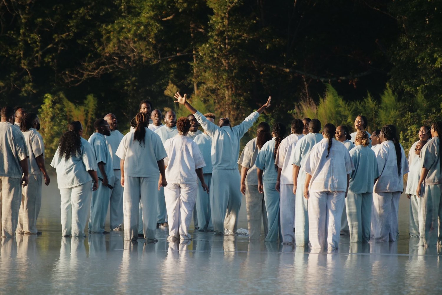 Kanye West Walks on Water During His Sunday Church Service