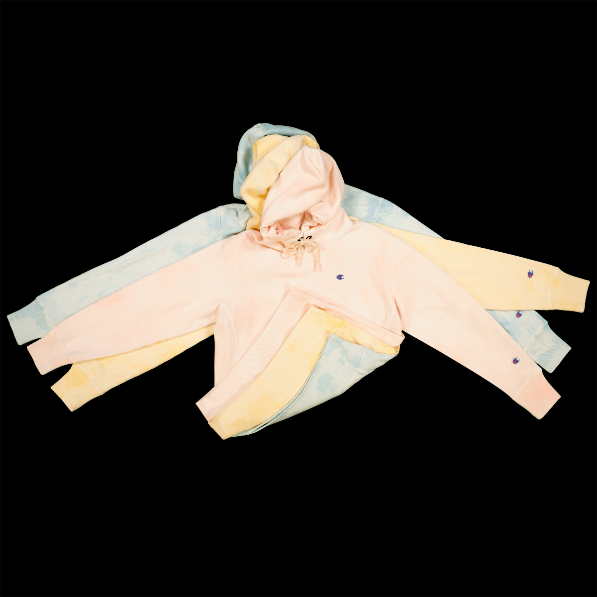 Mr Porter Updates Champion tops with Pastel Coloured Tie-Dye