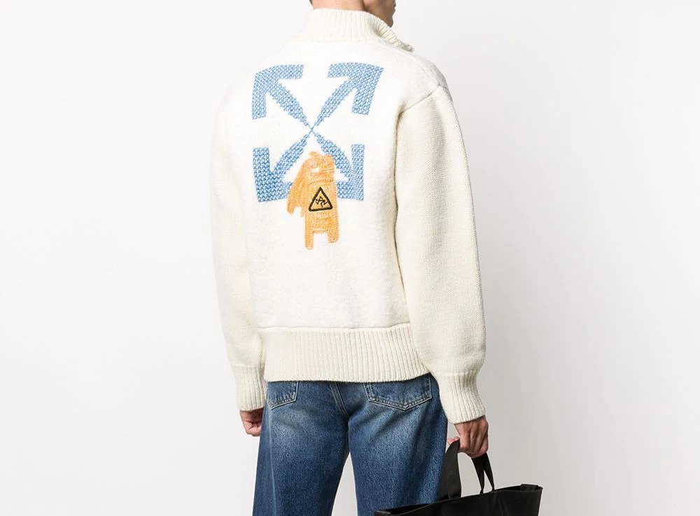 PAUSE or Skip: Off White Pascal Knitted Bomber