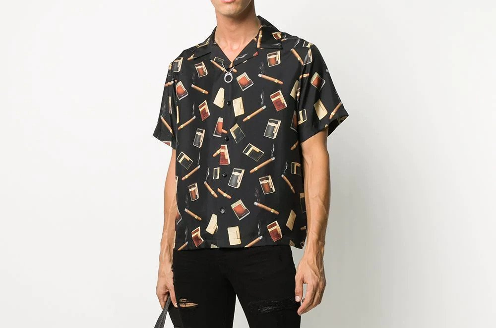 PAUSE or Skip: AMIRI Cigar Print Bowling Shirt