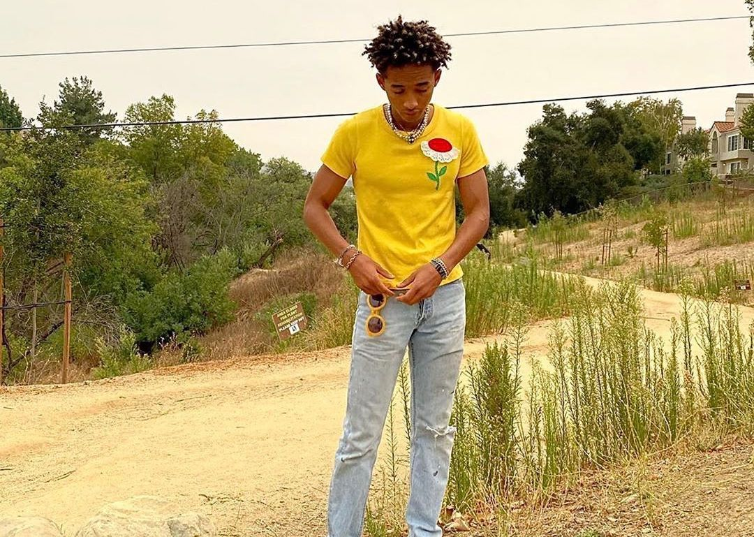 SPOTTED: Jaden Smith Dons Floral Yellow & New Balance