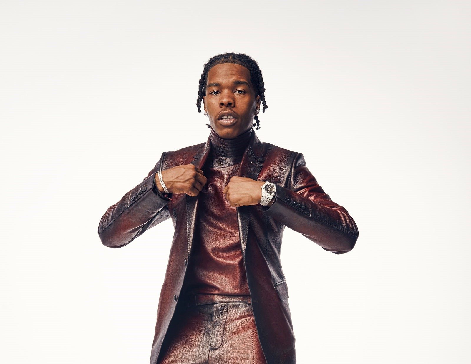 SPOTTED: Lil Baby Rocks Leather Tailoring for GQ