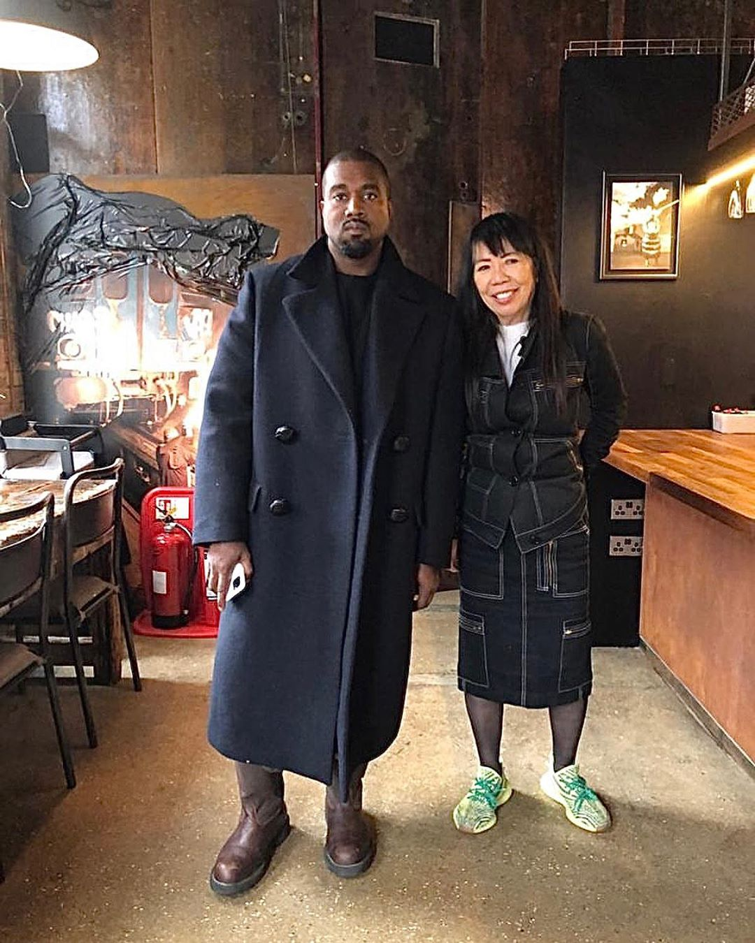 SPOTTED: Kanye West Dons Raf Simons Coat during London Trip