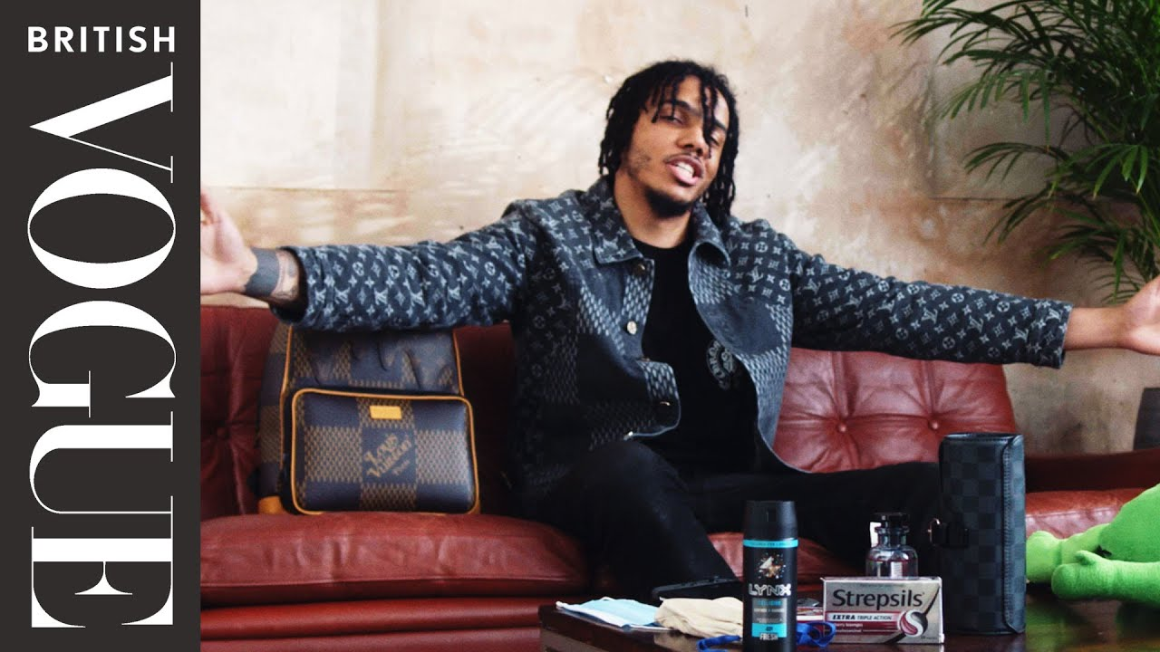 AJ Tracey Shares What's In His Bag with British Vogue