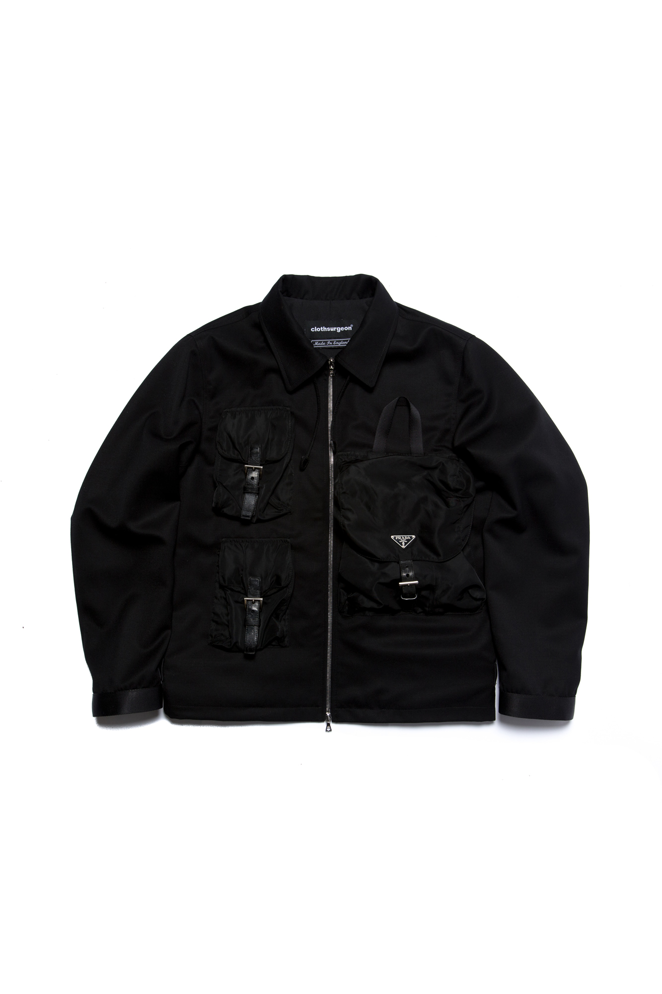 clothsurgeon Crafts Bomber Jacket From a 90s Prada Backpack