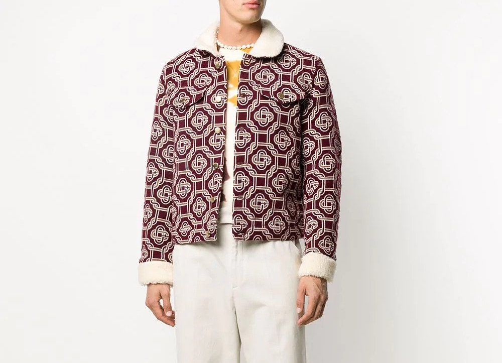 PAUSE or Skip: Casablanca Red Chain Knit Jacket