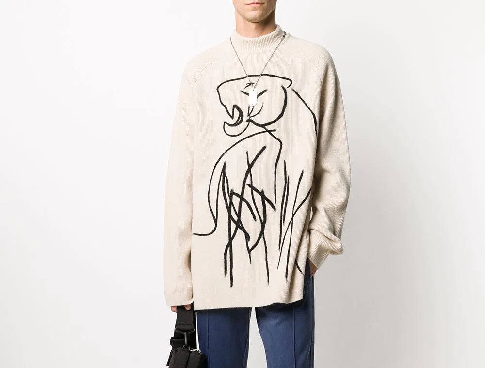 PAUSE or Skip: Kenzo Abstract Print Knitted Jumper