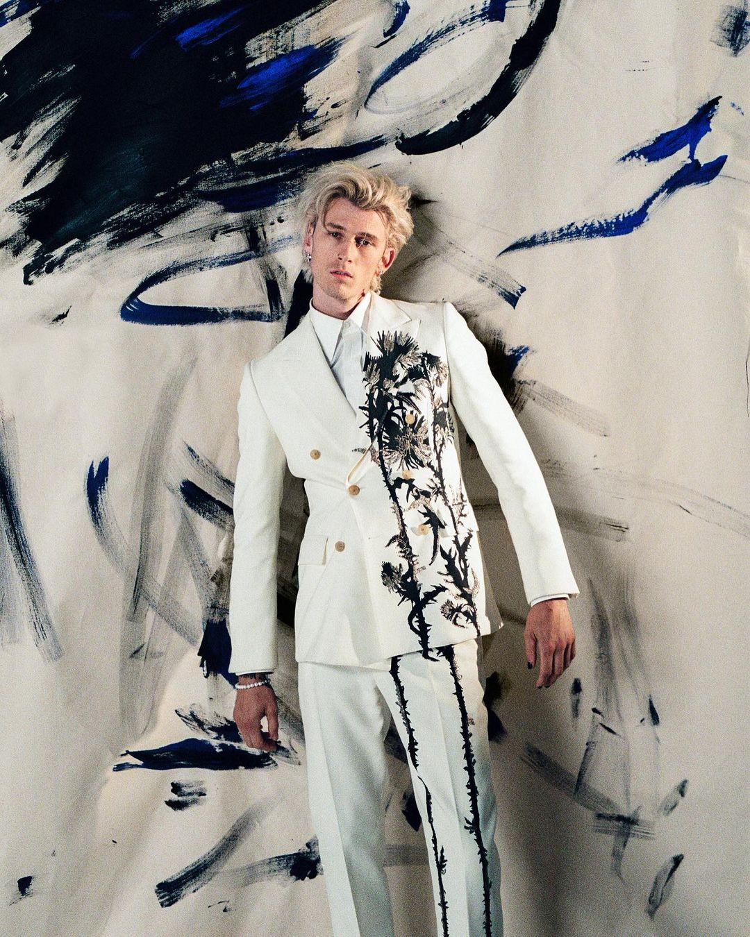 SPOTTED: Machine Gun Kelly in Alexander McQueen for Nylon