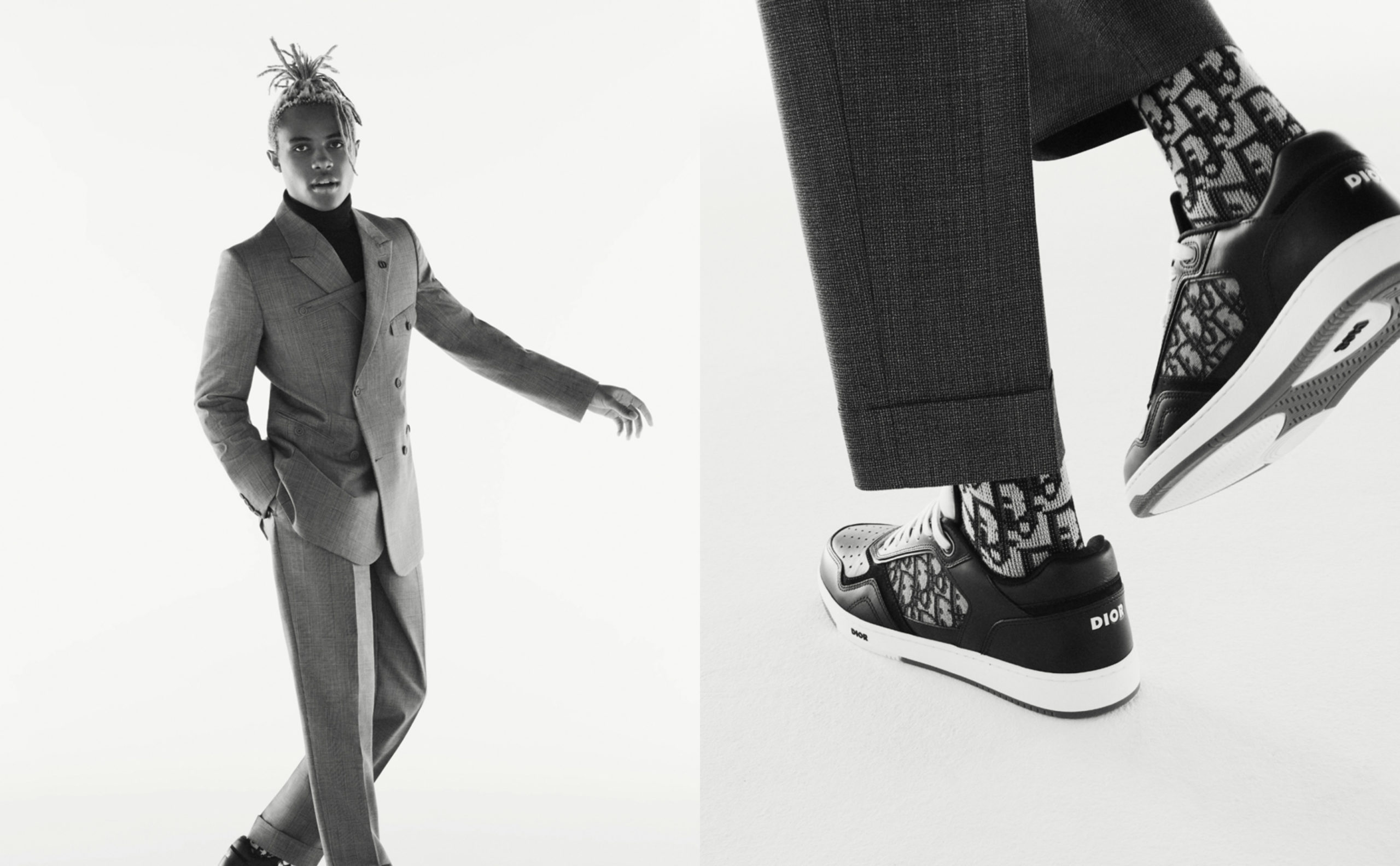 Dior Pair Suits and Sneakers for New Capsule