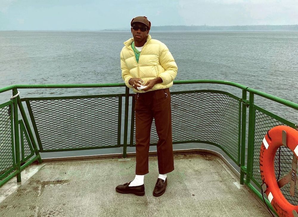 SPOTTED: Tyler, The Creator Catches a Ferry in Yellow Puffer Jacket