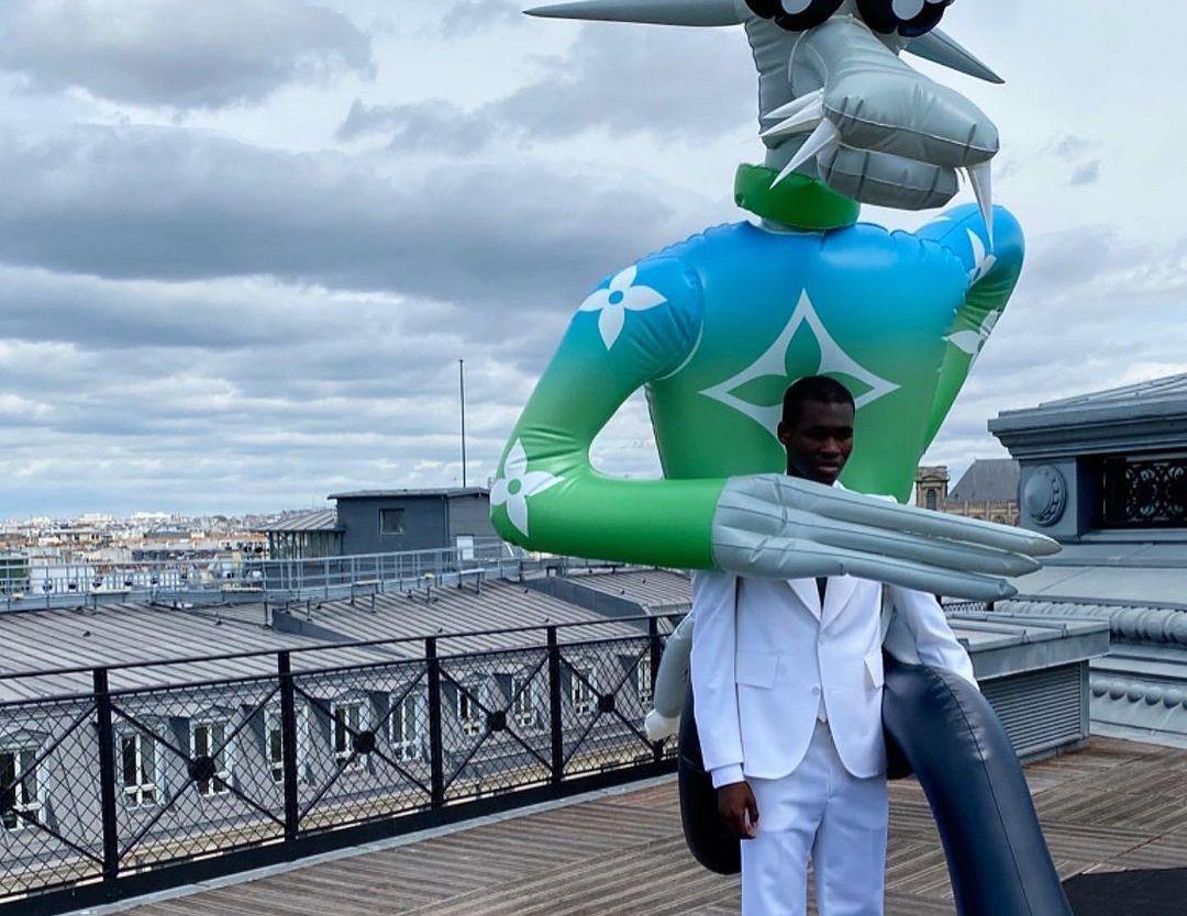 Virgil Abloh Shares Louis Vuitton Suiting Shots with Ismael Savane