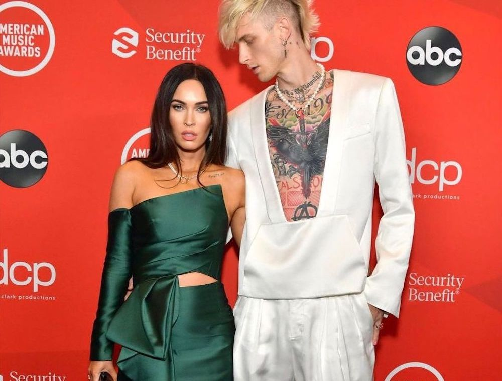SPOTTED: Machine Gun Kelly Attends AMAs with Megan Fox in Balmain