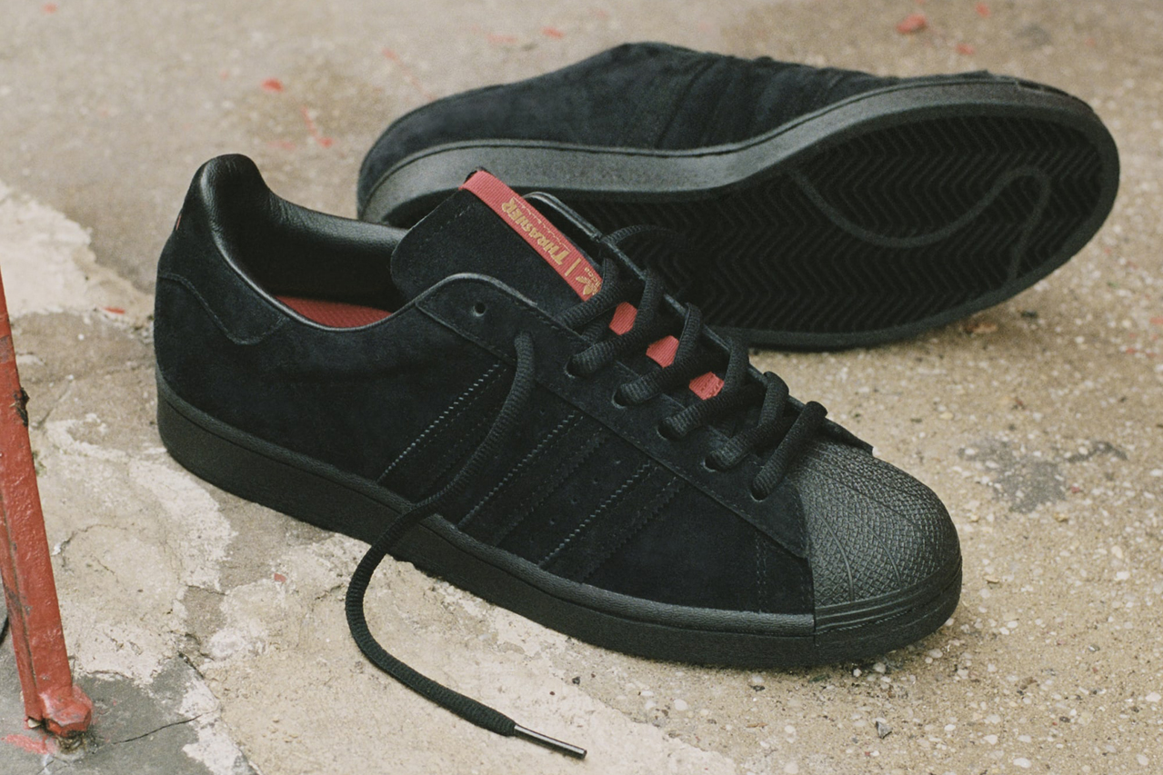 Thrasher x adidas Originals Preview Superstar ADV and Tyshawn Sneaker