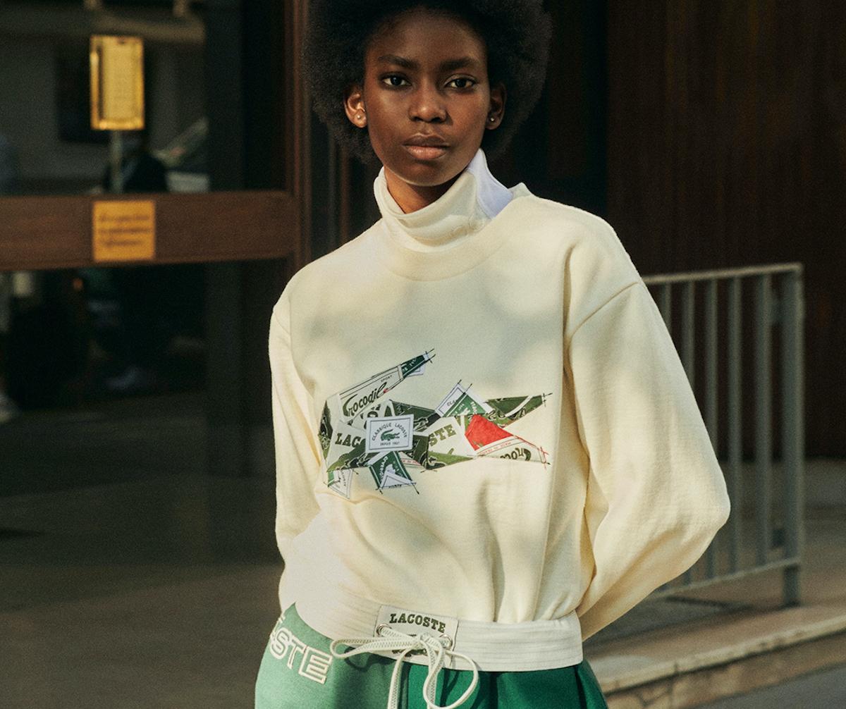 PAUSE or Skip: Lacoste x Maison Lemarié Limited-Edition Sweatshirt
