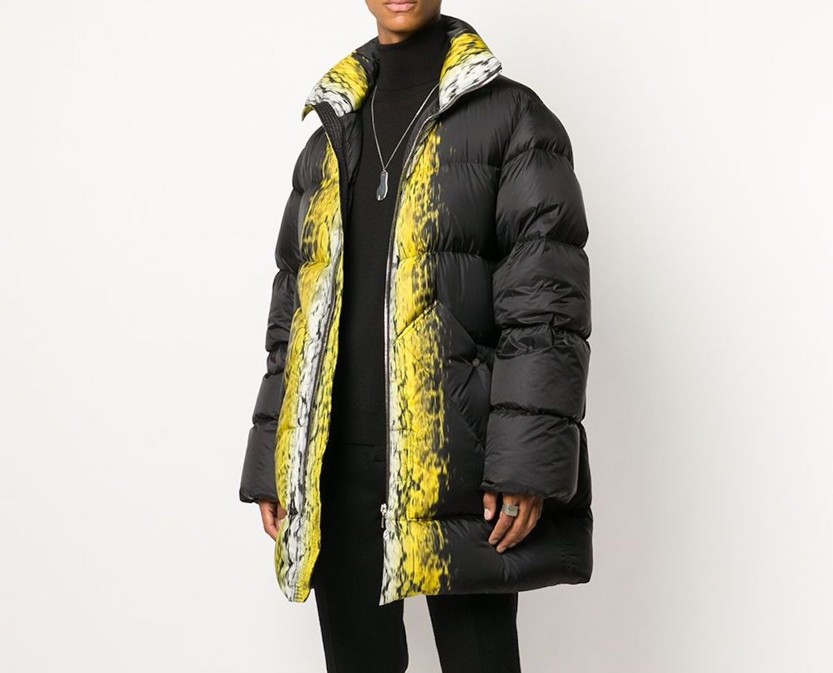 PAUSE or Skip: Rick Owens Oversized Graphic Print Coat