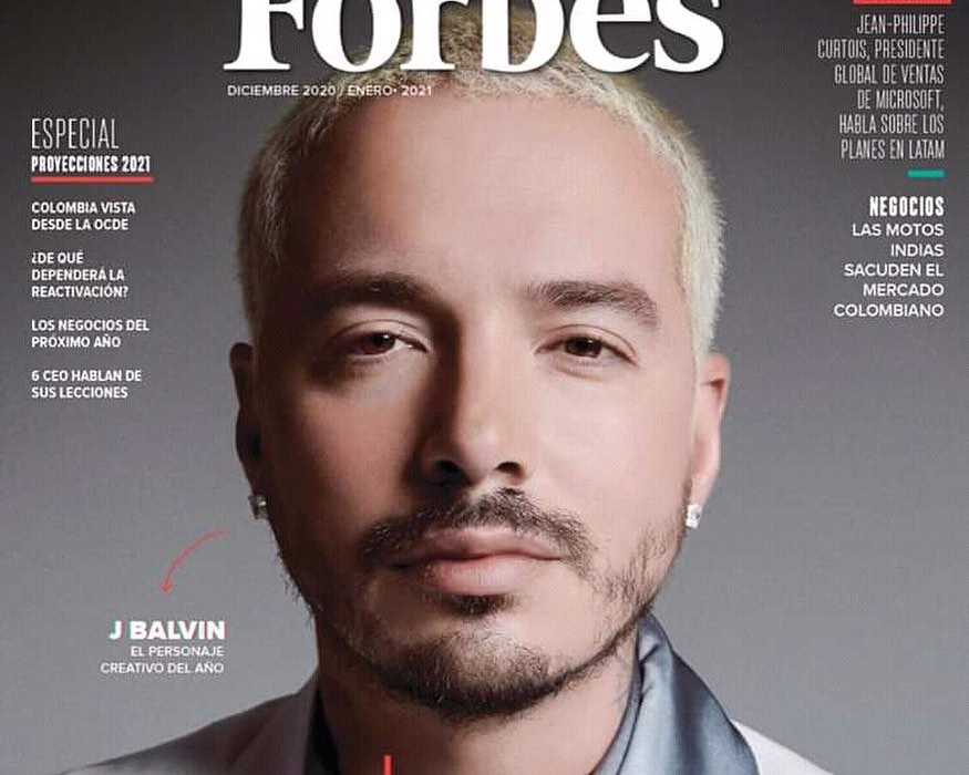 J Balvin Covers Forbes Colombia as #1 Creative in the Country