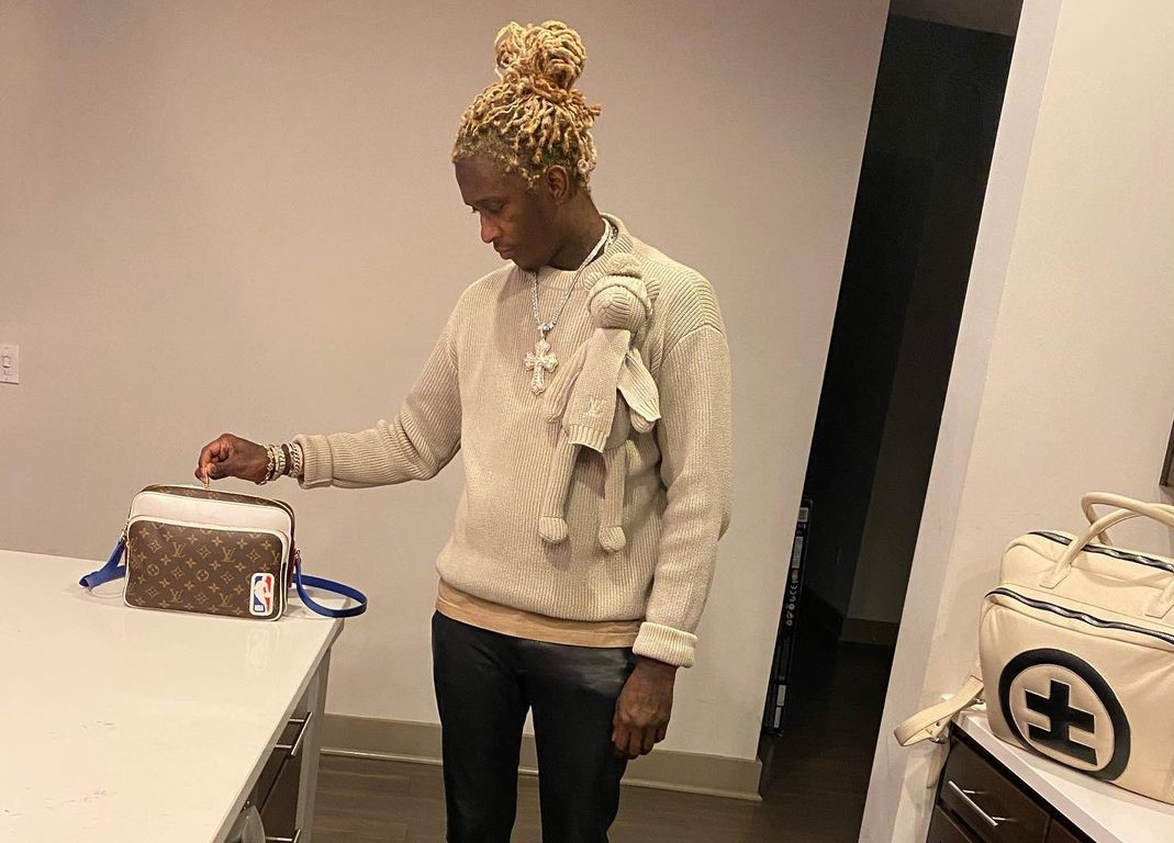 SPOTTED: Young Thug Poses in Louis Vuitton