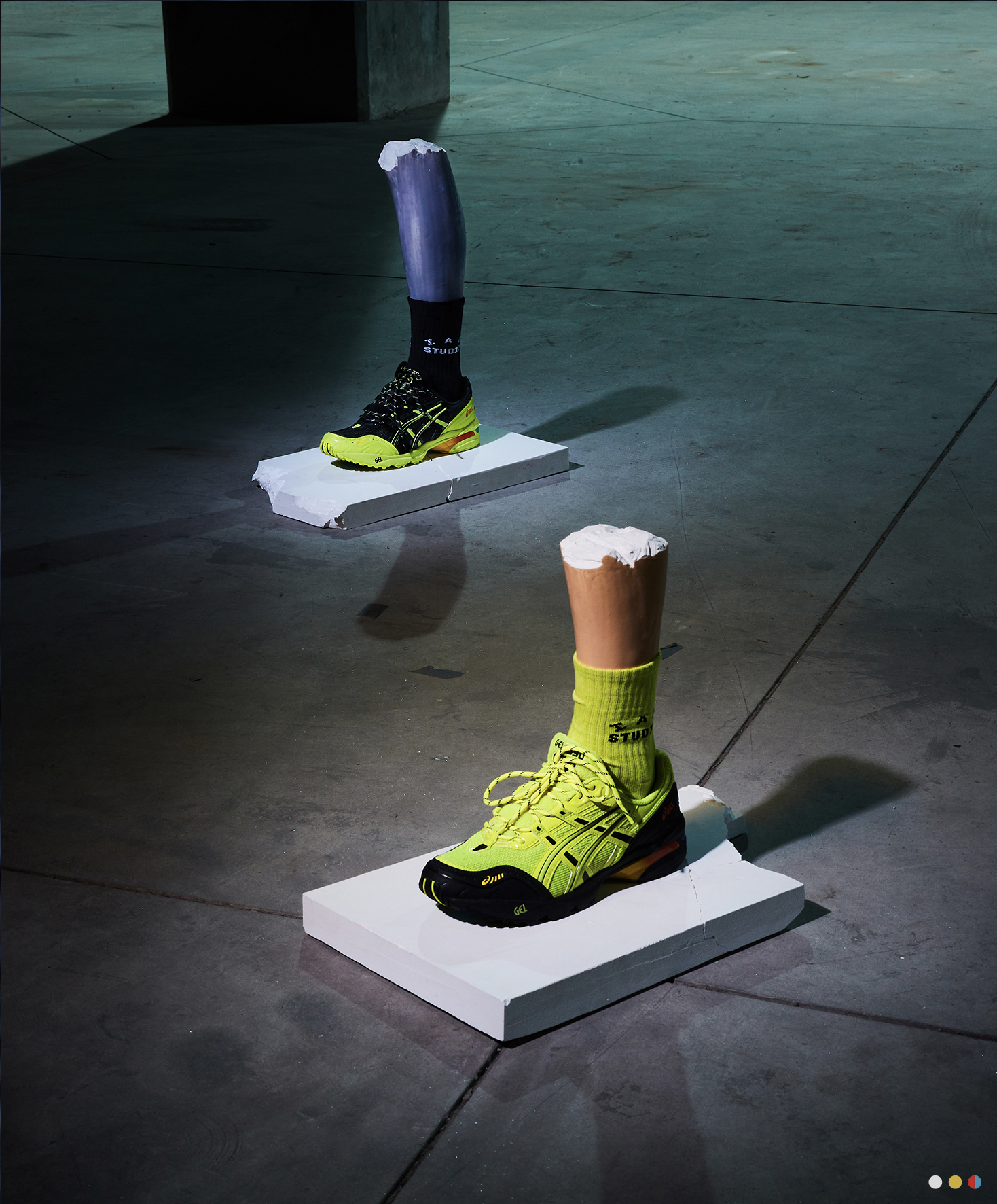 Asics and IAB Studios Launch Lime Green Infused Sneakers