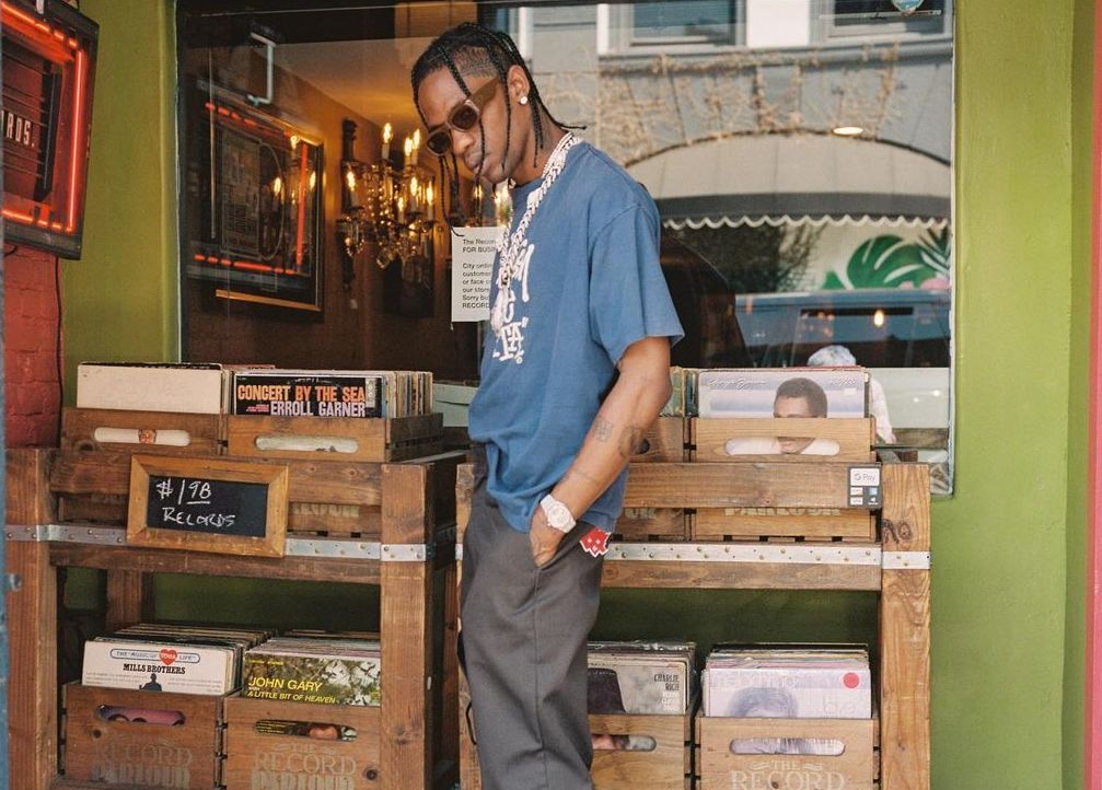 SPOTTED: Travis Scott Goes Vinyl Shopping in Stussy & Nike