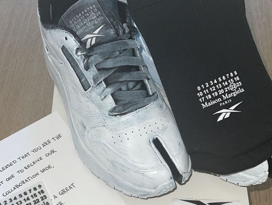 Kim K Previews the Pending Maison Margiela x Reebok Collab