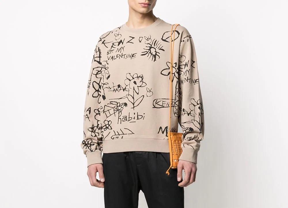 PAUSE or Skip: Kenzo Drawing Print Sweatshirt