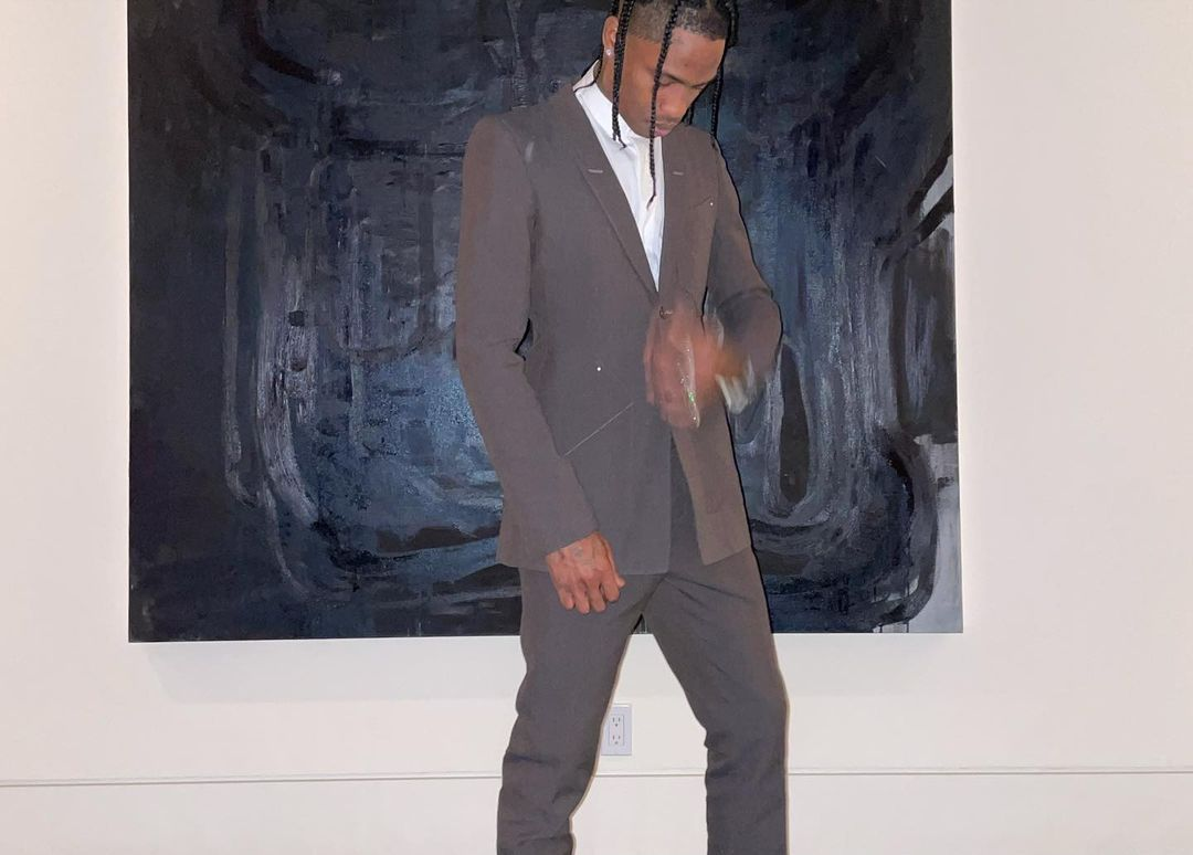 SPOTTED: Travis Scott Rings in the New Year in Tonal Brown Tailoring