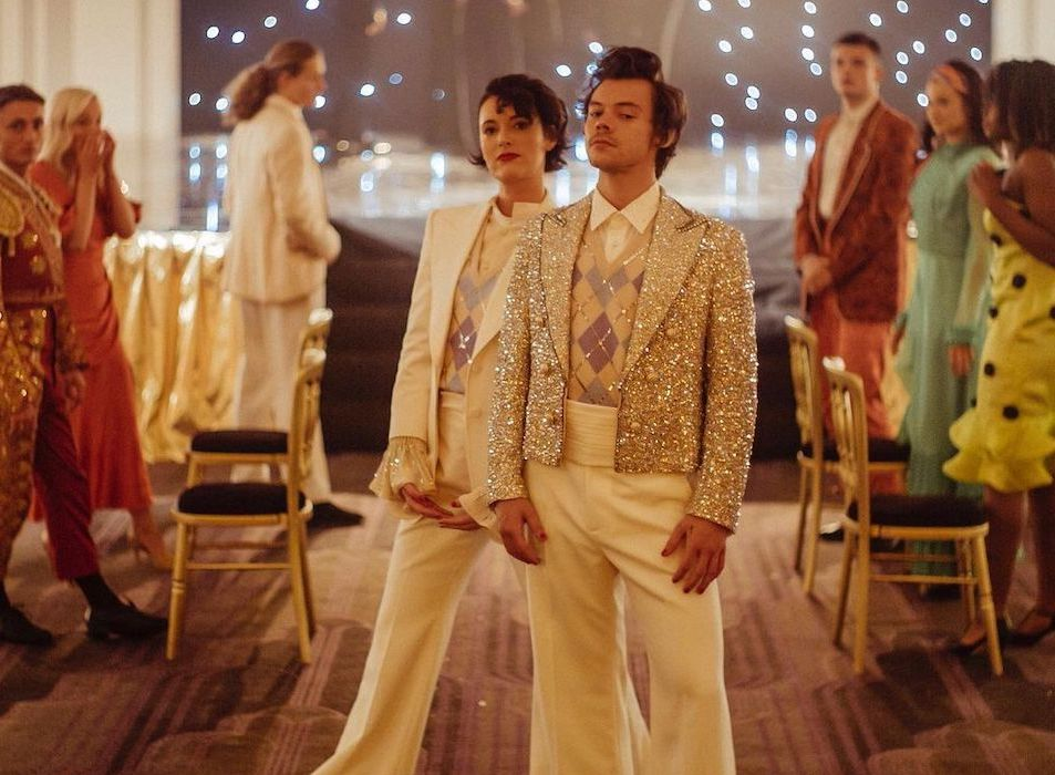 SPOTTED: Harry Styles Dons Custom Gucci Ensemble in Latest Video