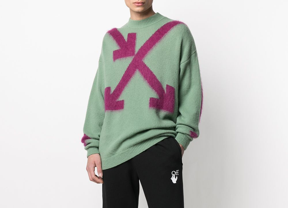PAUSE or Skip: Off-White Intarsia Arrow-Knit Jumper