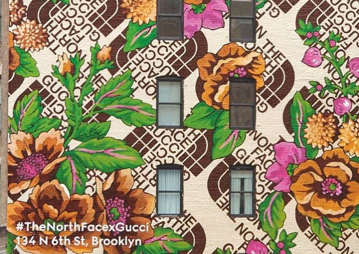 The North Face x Gucci Mark Collab Launch with Murals Across the Globe