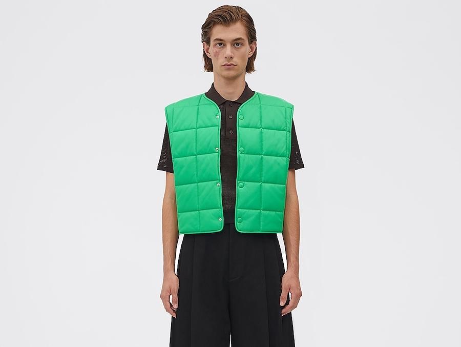 PAUSE or Skip: Bottega Veneta Green Leather Vest