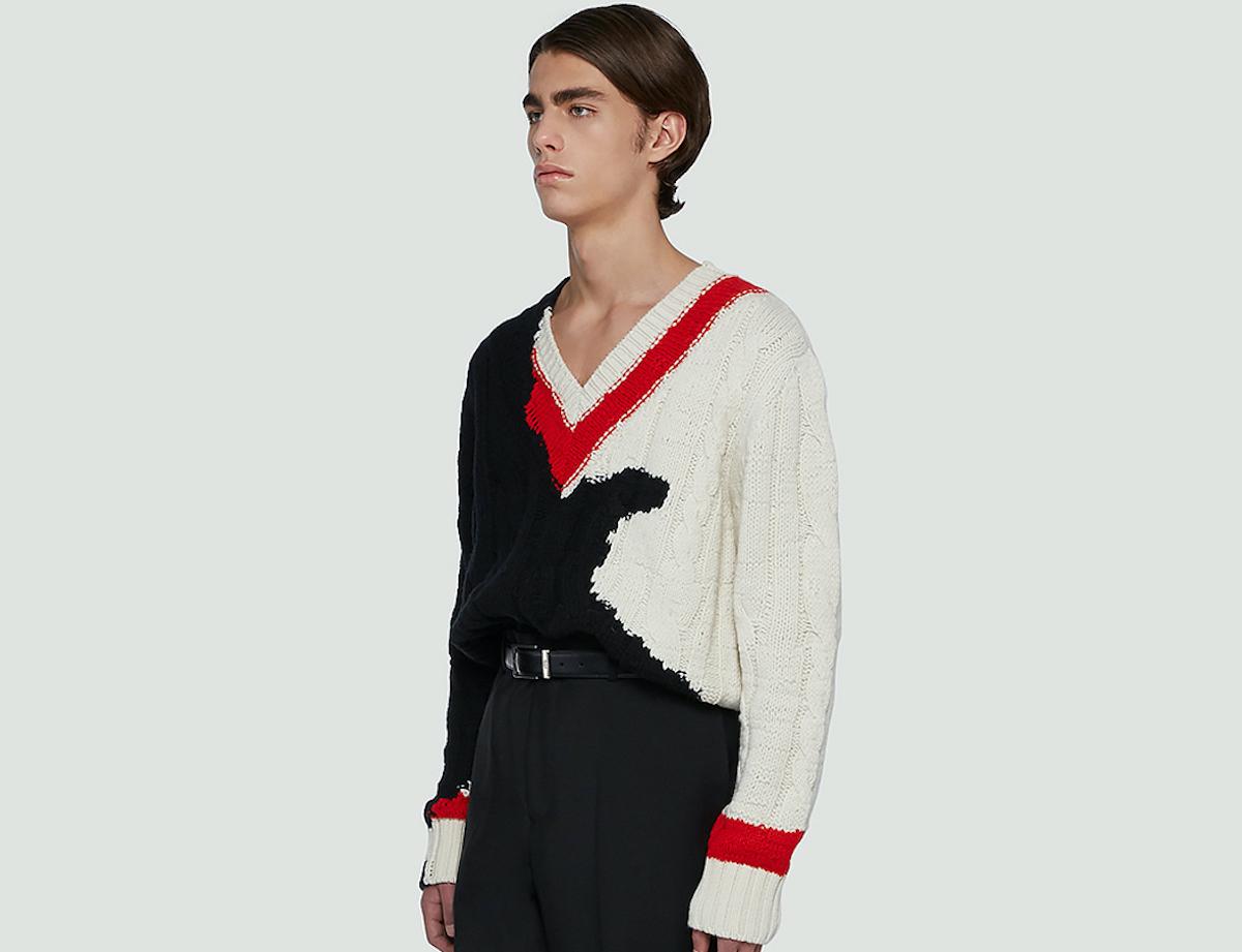 PAUSE or Skip: Alexander McQueen Contrast Knit V-Neck