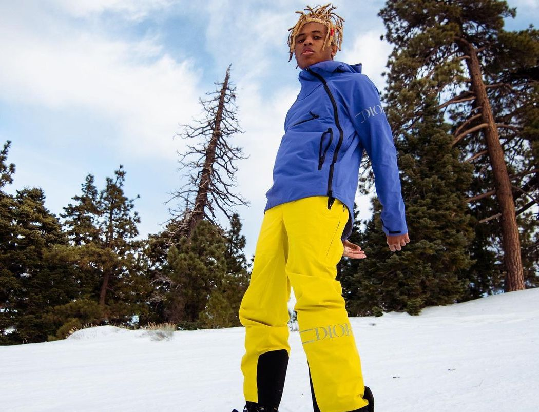 SPOTTED: Kailand Morris goes Snowboarding in Dior Men