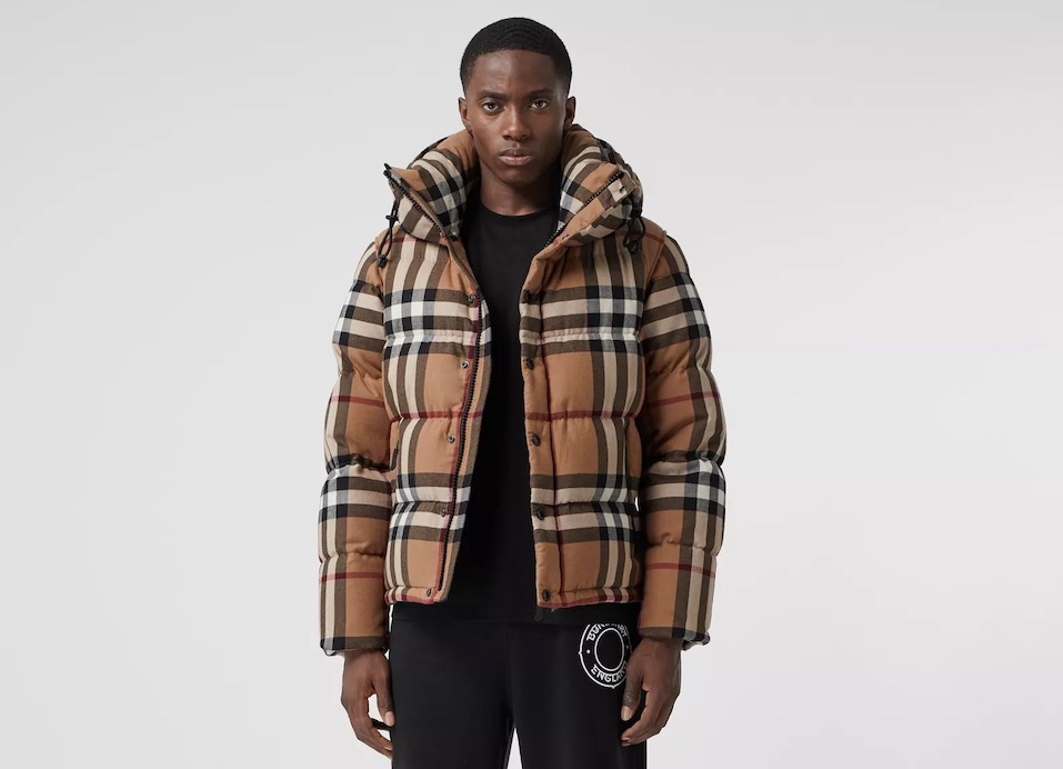 PAUSE or Skip: Burberry Detachable Sleeve Check Puffer
