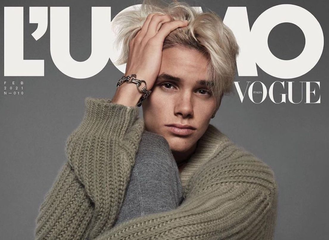 SPOTTED: Romeo Beckham L'UOMO Vogue's February Issue