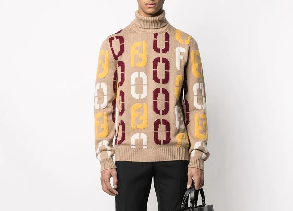 PAUSE or Skip: Fendi Intarsia Knit Logo Jumper