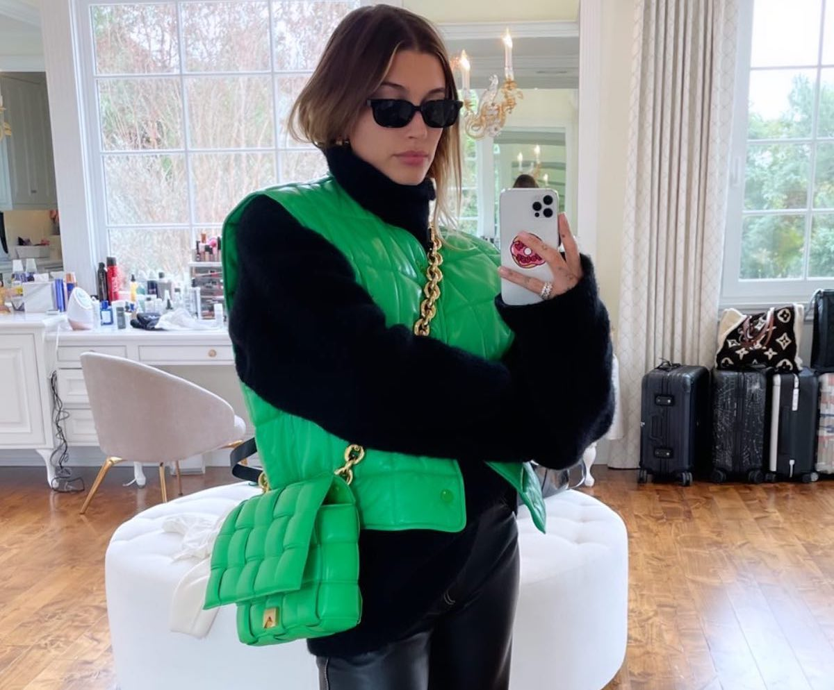 SPOTTED: Hailey Bieber Goes Neon Green in Bottega Veneta