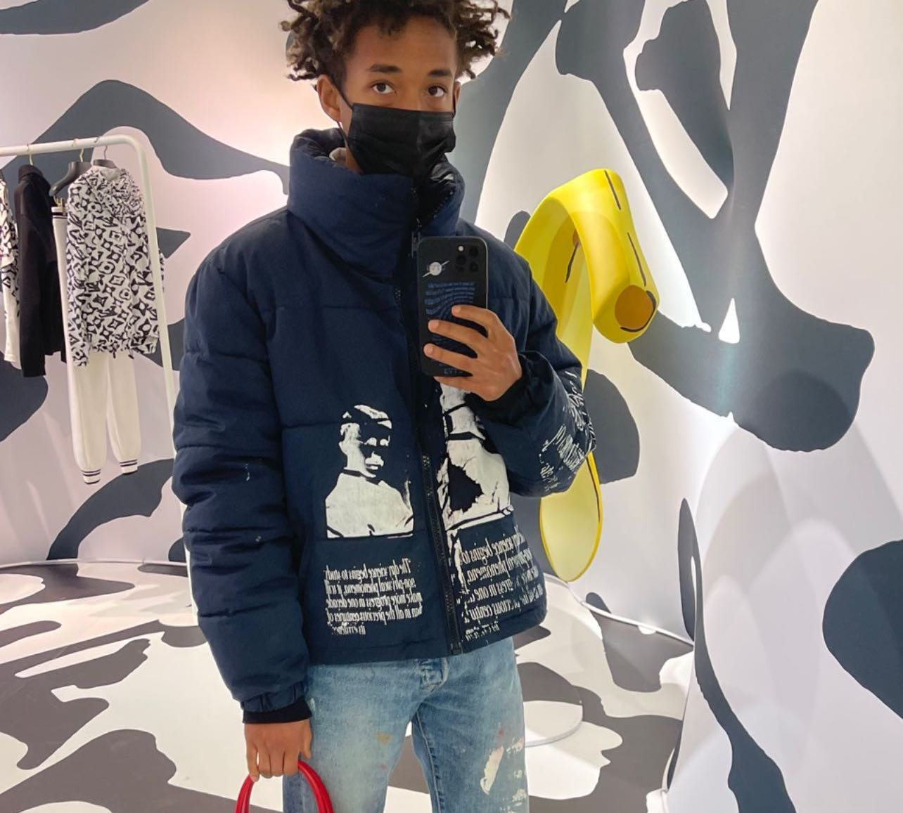 SPOTTED: Jaden Smith Spotlights Louis Vuitton x Urs Fischer Bag