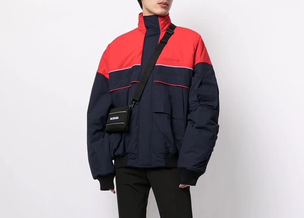 PAUSE or Skip: Balenciaga Panelled High-Neck Coat
