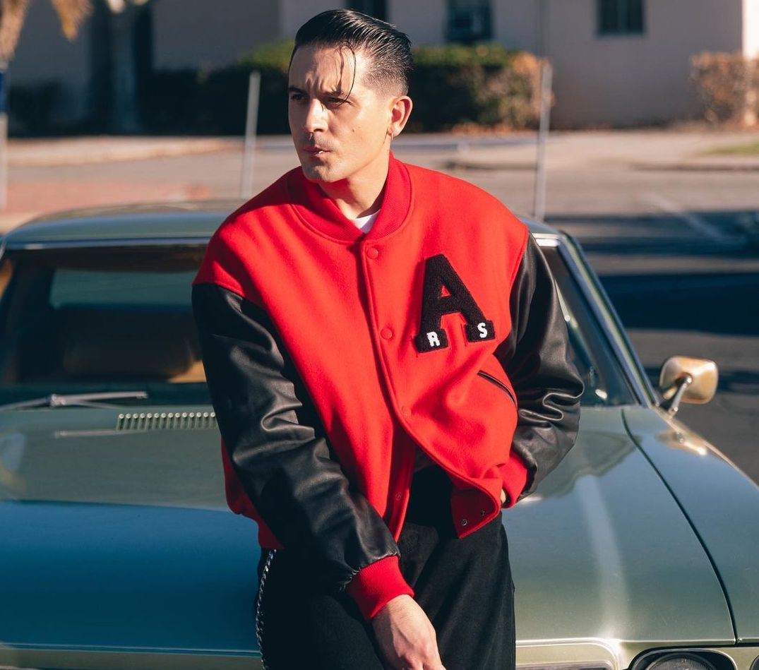 SPOTTED: G-Eazy Serves Varsity Style on Set with Chris Brown