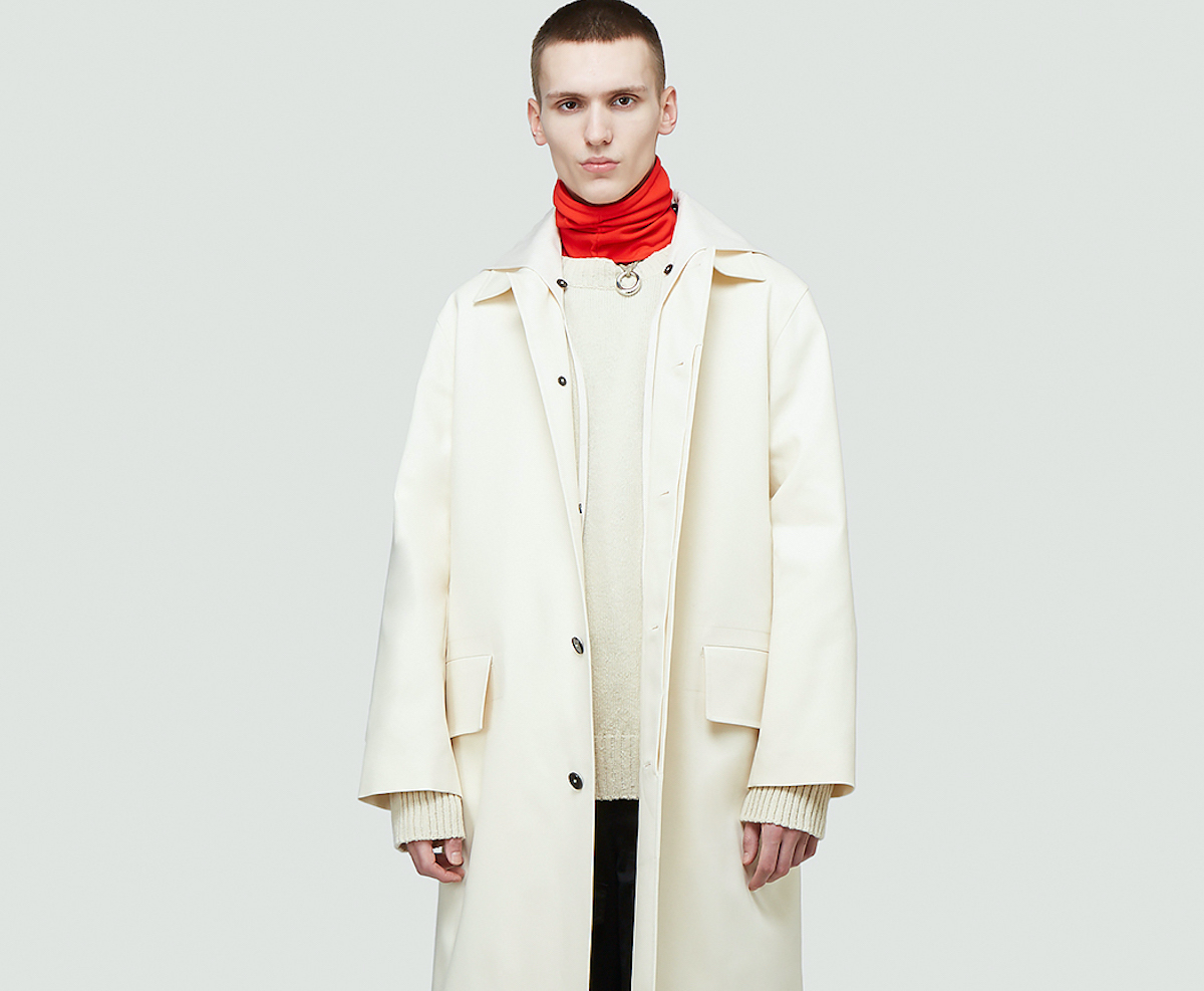PAUSE or Skip: Jil Sander Yellow Moon Trench Coat in White