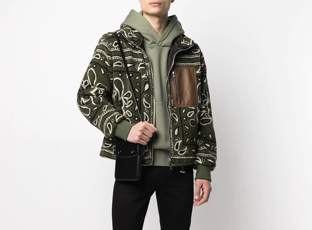 PAUSE or Skip: Amiri Bandana-Print Fleece Jacket