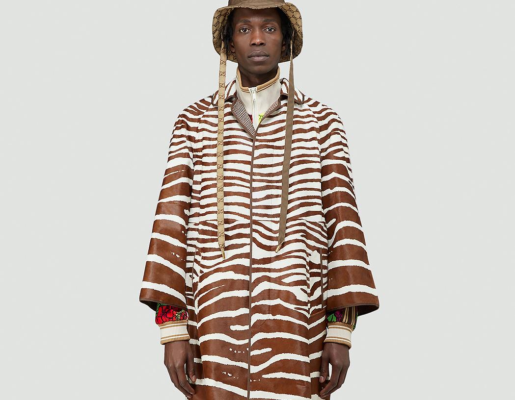 PAUSE or Skip: Gucci Zebra Print Coat