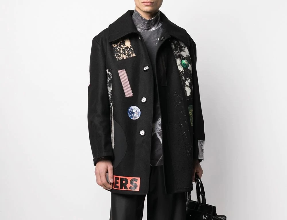 PAUSE or Skip: Raf Simons Appliqué Wool Coat
