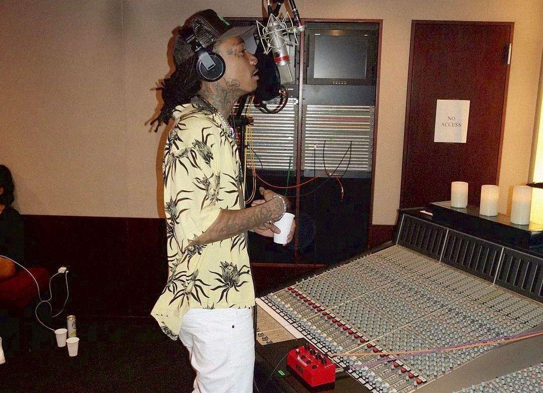 SPOTTED: Wiz Khalifa Hits the Studio in Celine & Dior