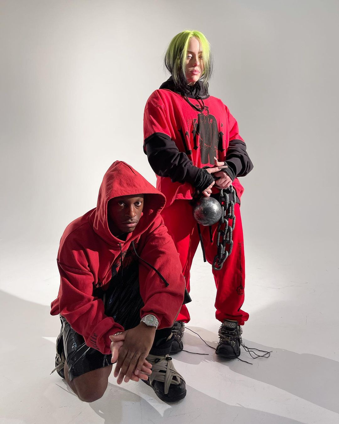 SPOTTED: Bloody Osiris Styles Billie Eilish for New Documentary Stills