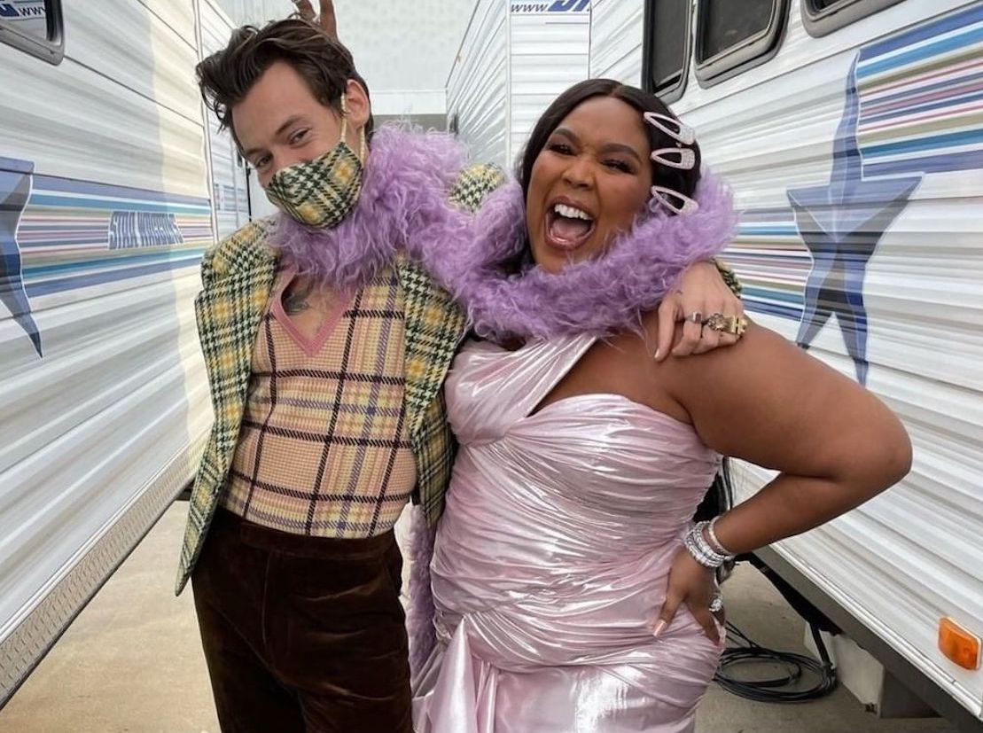 SPOTTED: Harry Styles & Lizzo backstage at The Grammys