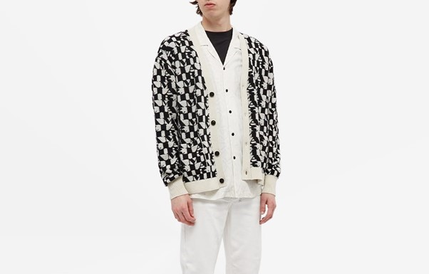 PAUSE or Skip: Amiri all-over print Cardigan