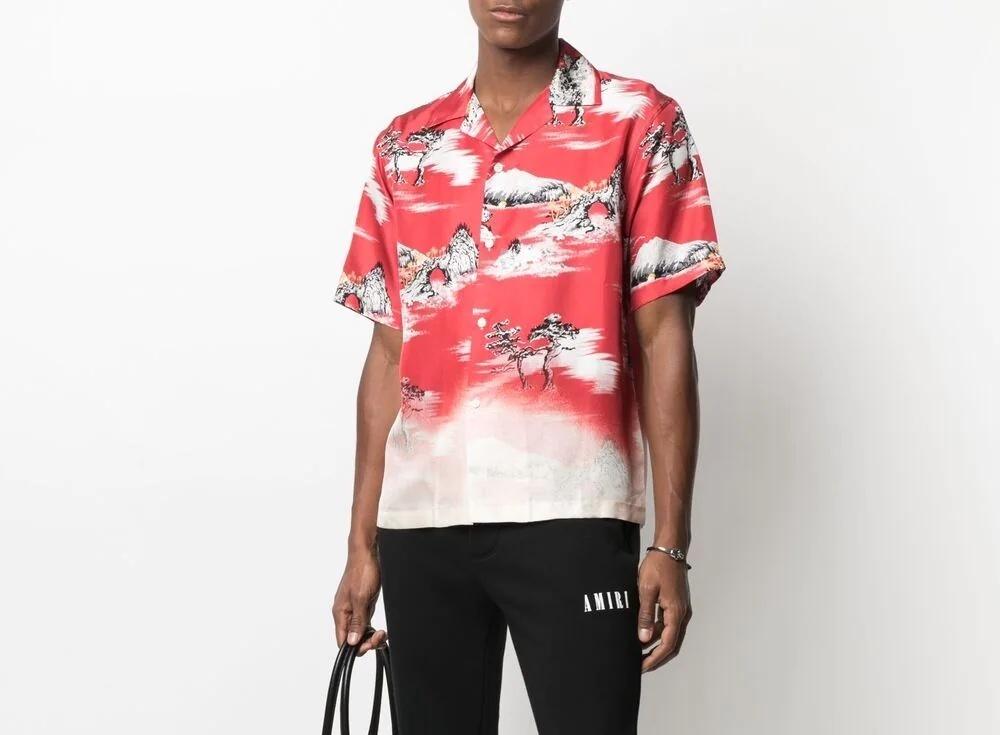 PAUSE or Skip: AMIRI Landscape Print Silk Shirt